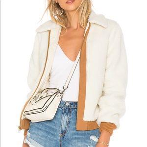 Lovers+Friends Simone Faux Fur Jacket in Ivory